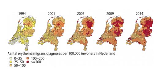 verspreiding-Lyme-nederland-2014